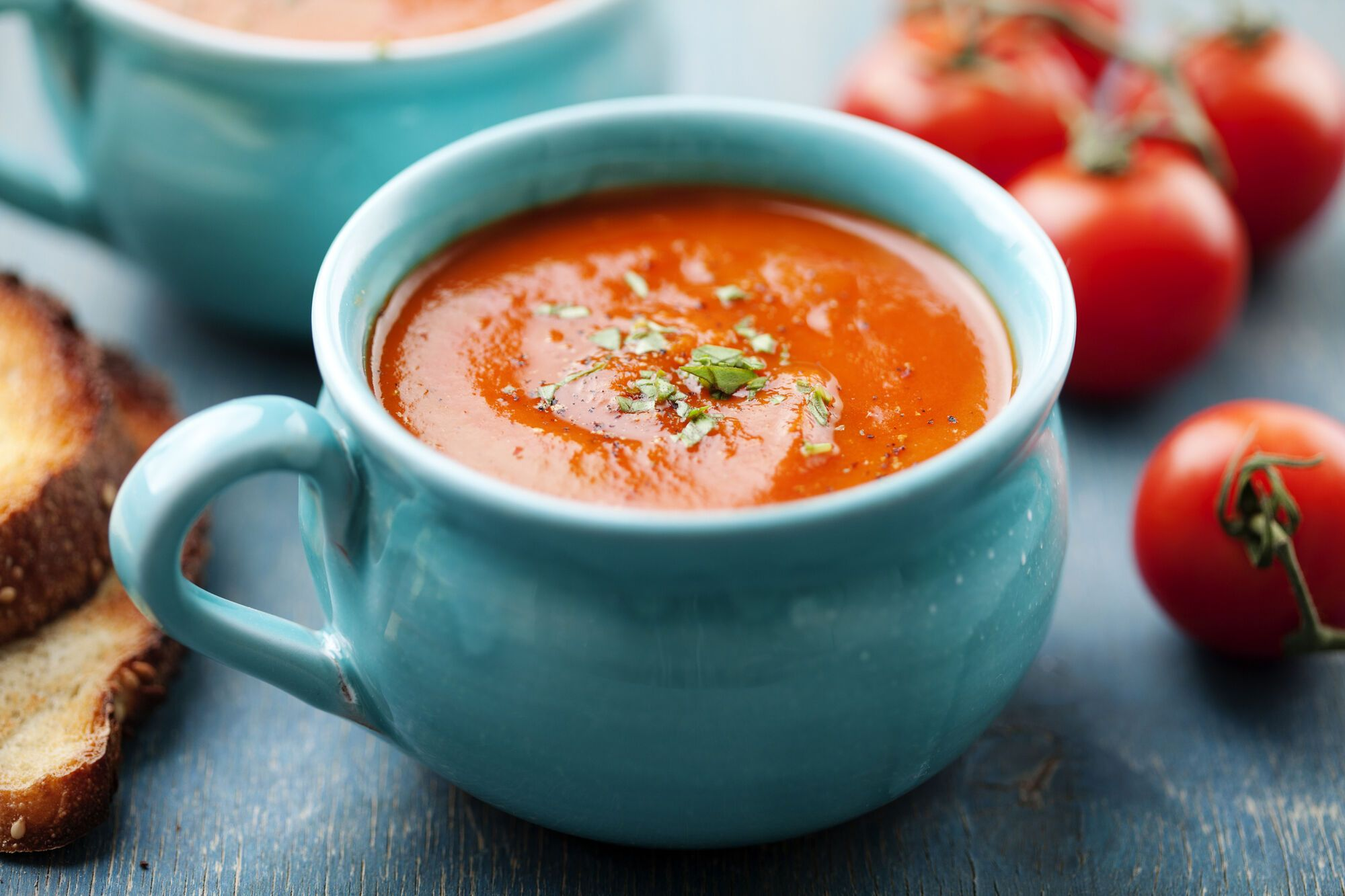Гарячий томатний суп