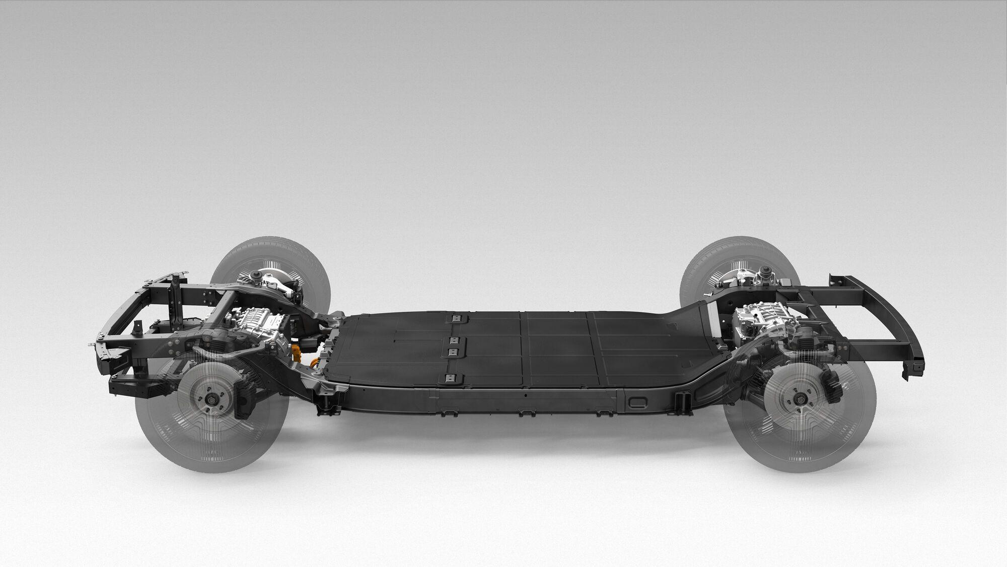 """Модельная платформа-""""скейтборд"""" от Canoo позволяет монтировать различные кузова."""