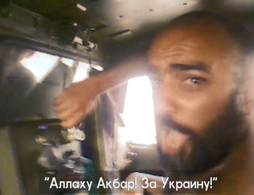 Роман Бахшиєв під час бою