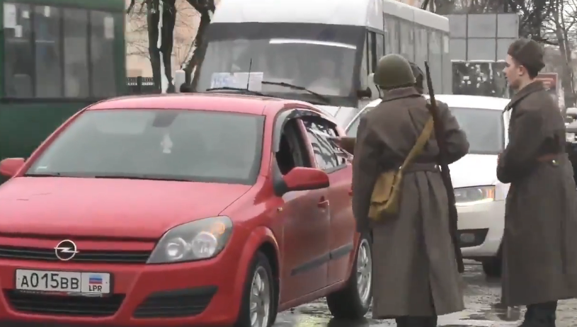 """Террористы """"ЛНР"""" устроили пропагандистскую акцию в ватниках"""