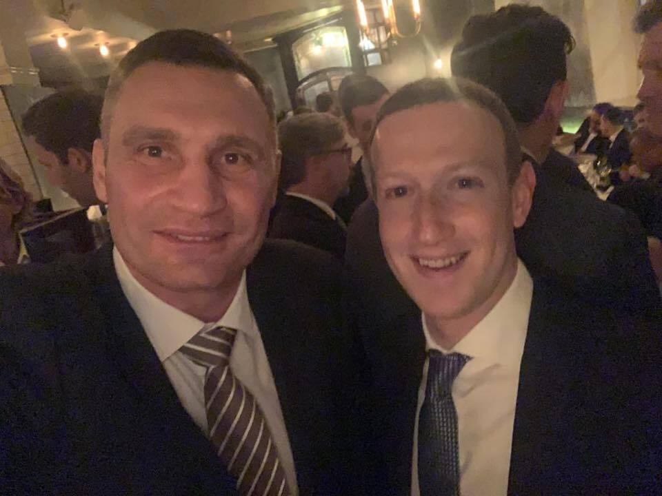 Кличко похвалився фото з Цукербергом