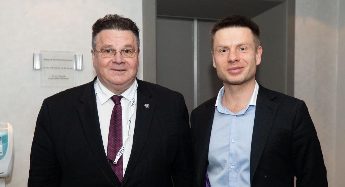 Олексій Гончаренко та міністру закордонних справ Литви Лінас Лінкявічус
