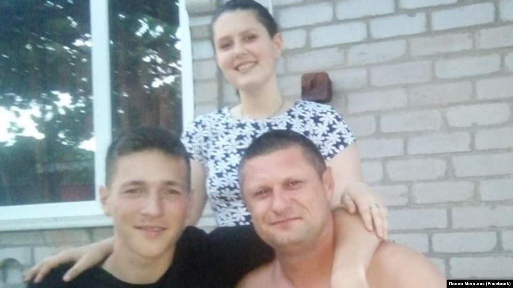 Украинский рыбак Максим Терехов с семьей