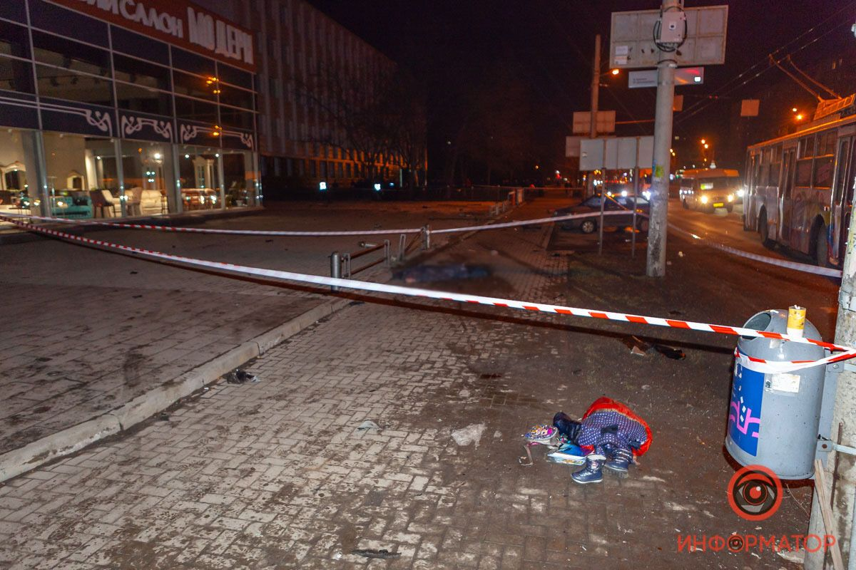 В Днепре на перекрестке сбили людей