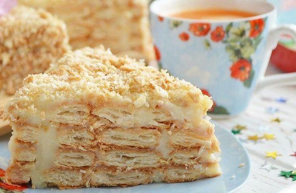 """Торт """"Наполеон"""" з печива"""