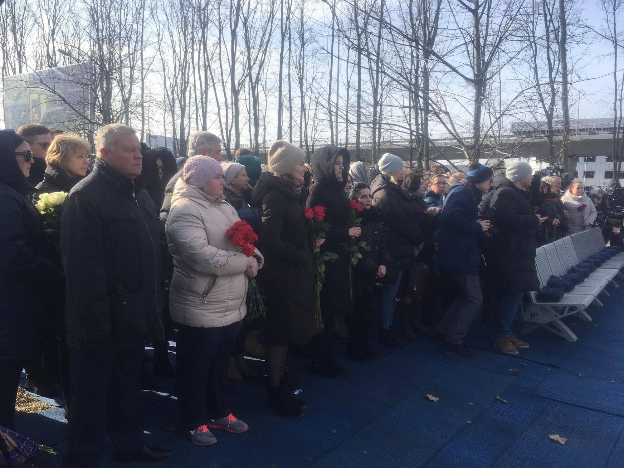 """40 дней после катастрофы самолета МАУ в Иране: в """"Борисполе"""" почтили память жертв. Первые фото и видео"""