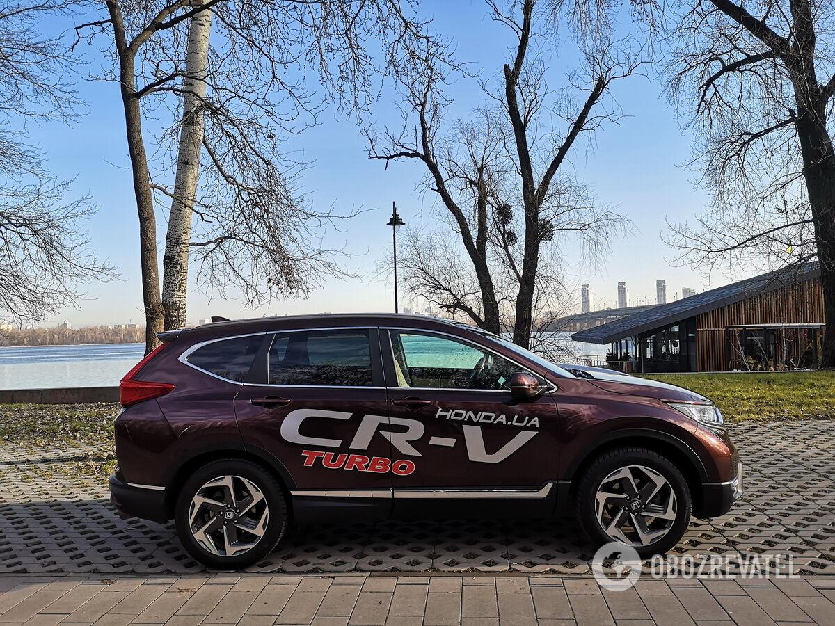 Honda CR-V выглядит гармонично и современно