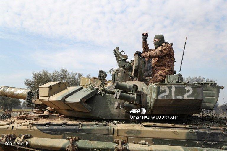 Российский танк, захваченный в Сирии