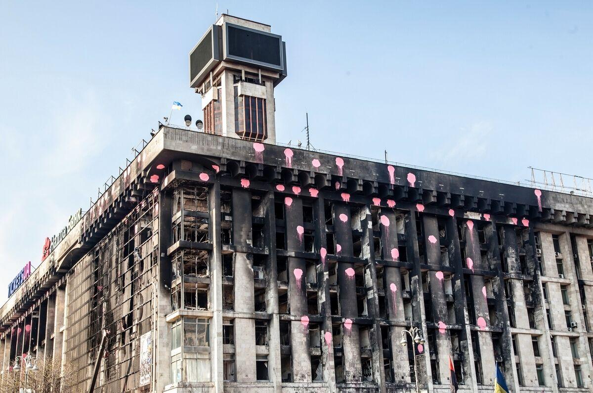 Будинок профспілок в Києві вигорів дотла