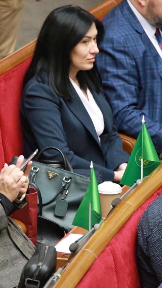 Вікторія Кінзбурская з сумкою від Prada в Раді