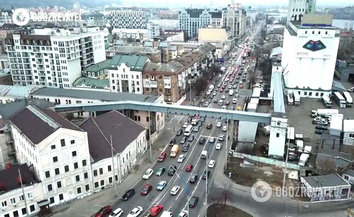 Затор на ул. Набережно-Крещатицкой