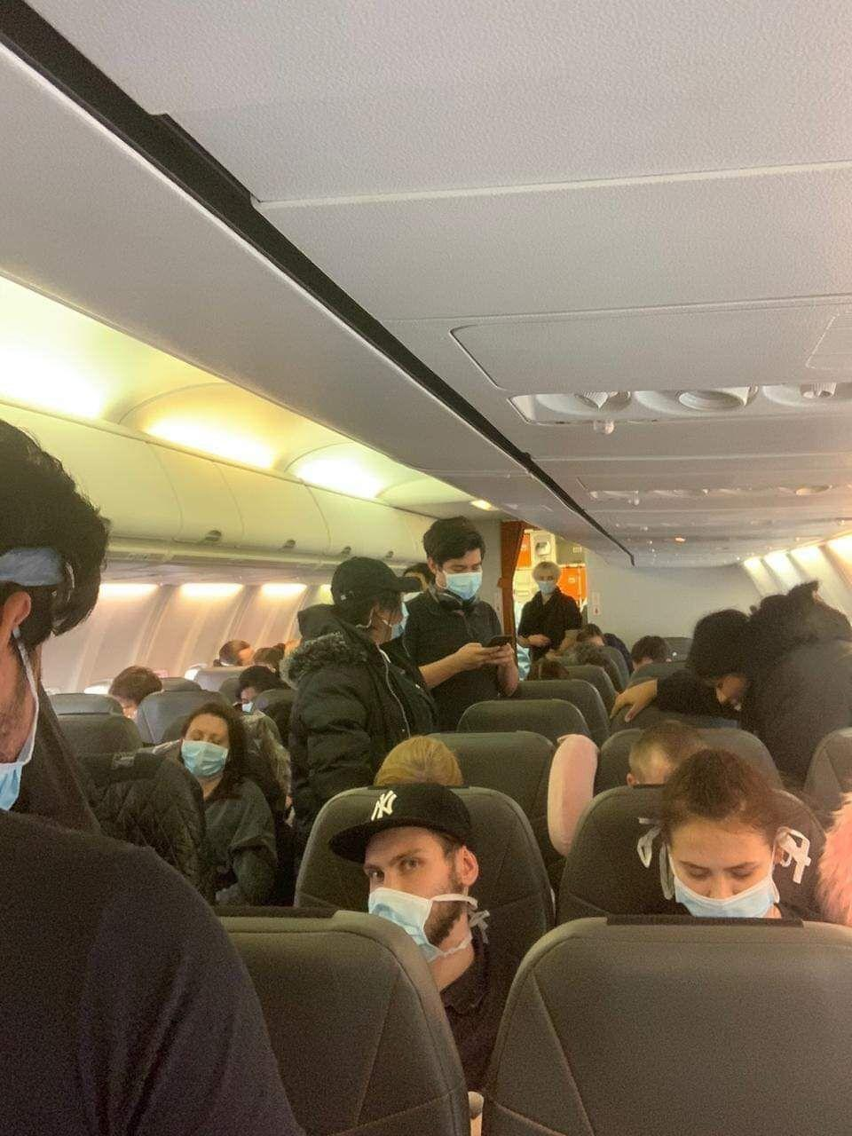 Фото из самолета с украинцами