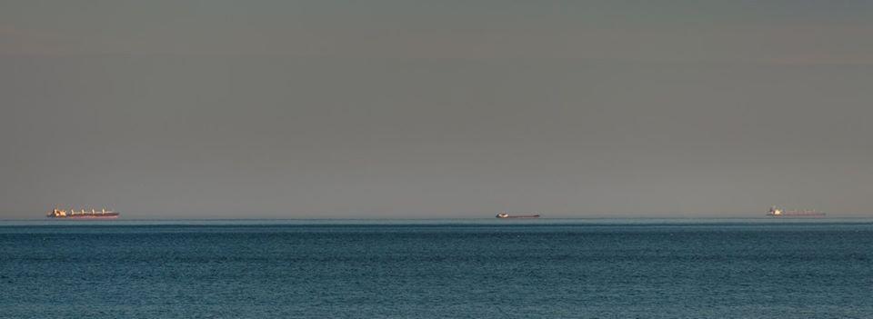 В Одессе над морем сняли фантастическое явление