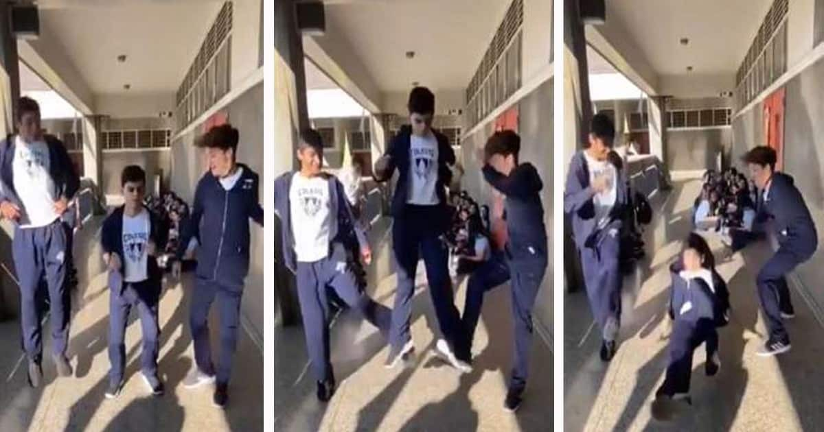 Школьнику предлагают вместе прыгнуть