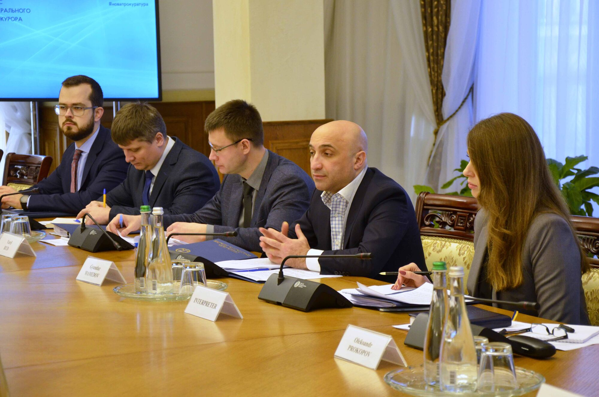 Гюндуз Мамедов на встрече с представителями Офиса прокурора Международного уголовного суда