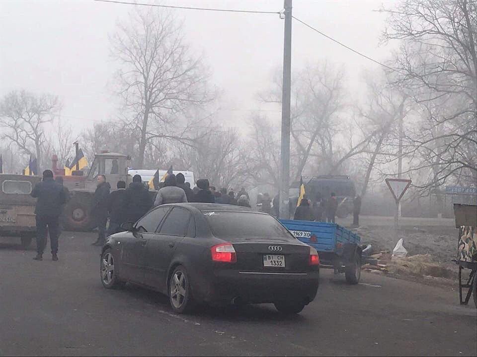 Протести в Нових Санжарах