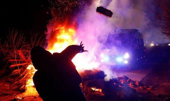 Новые Санжары - протест и столкновения