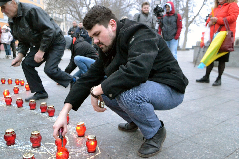 В Одессе трогательно почтили память погибших Героев Небесной Сотни