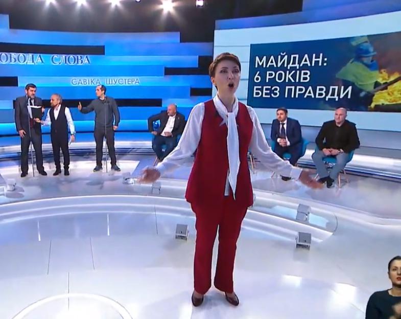 Олена Лукаш влаштувала скандал у Шустера