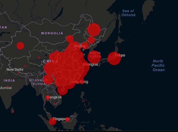 Онлайн-карта распространения коронавируса COVID-19