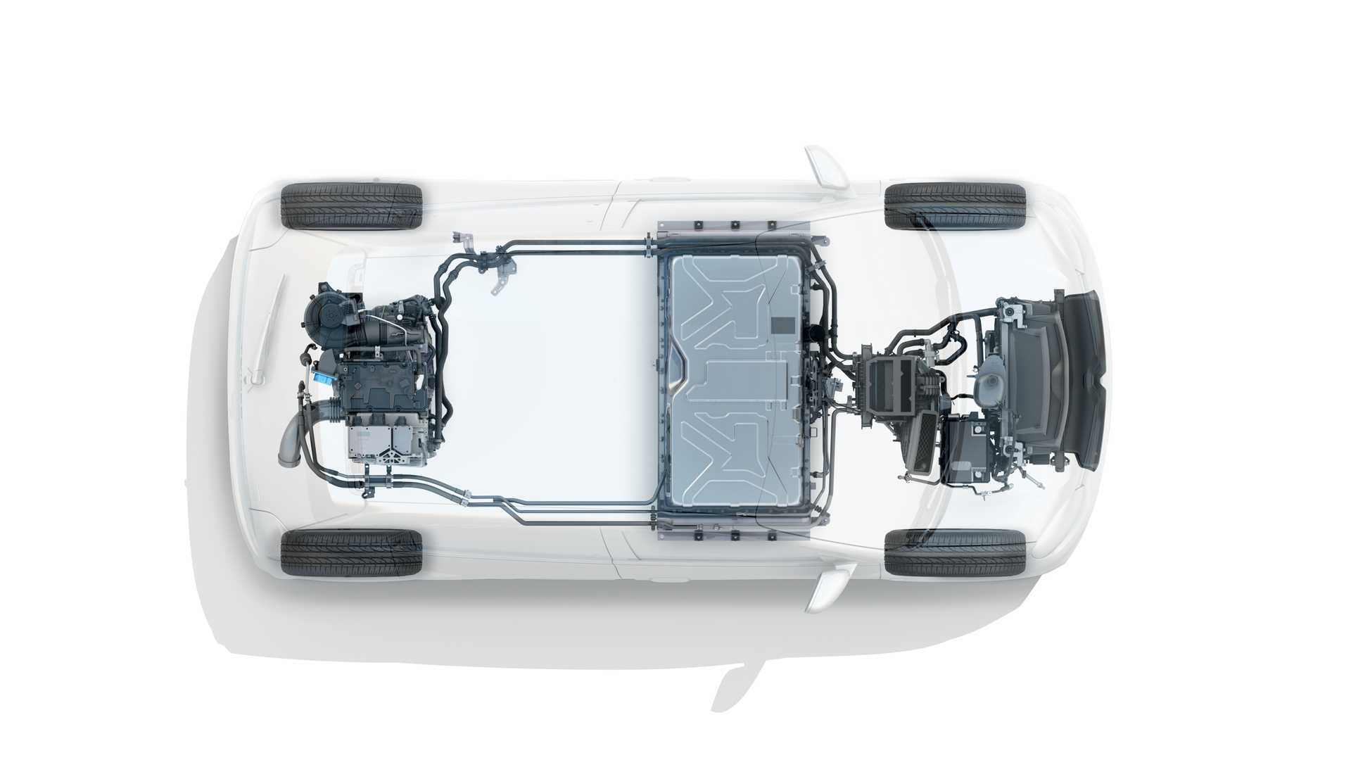 Благодаря литий-ионному аккумулятору емкостью 22 кВтч и весом 165 кг автомобиль способен преодолеть до 250 км (WLTP City)