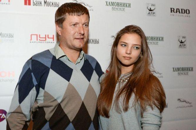 Евгений Кафельников и его дочь Алеся Кафельникова