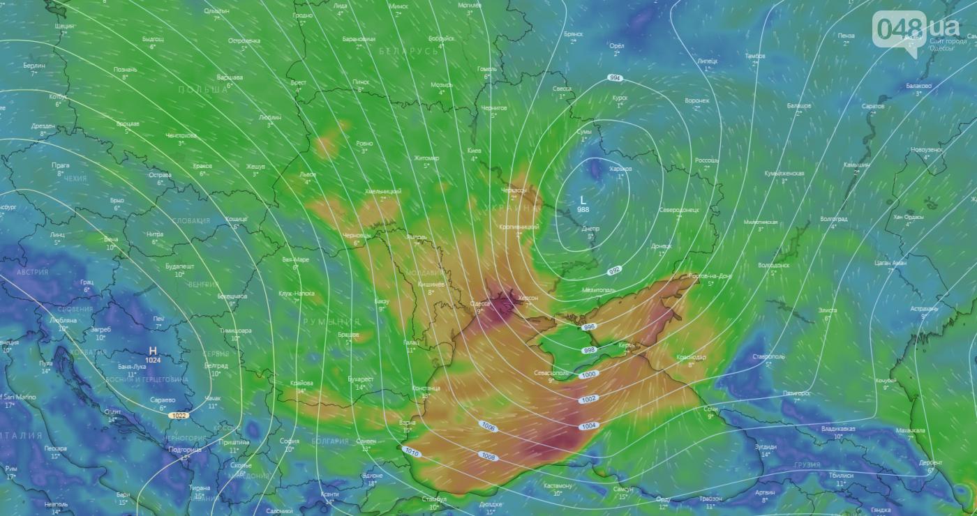24 лютого Одесу накриє циклон Юля