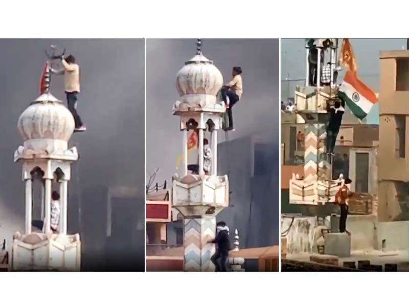 Індуси підпалили мечеть у Нью-Делі і підняли над нею індуїстський прапор