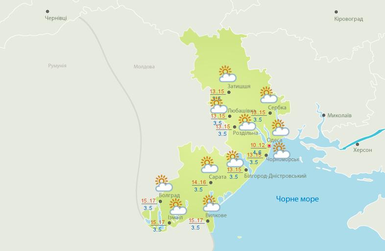 Синоптики дали прогноз погоди в Одесі на 26 лютого