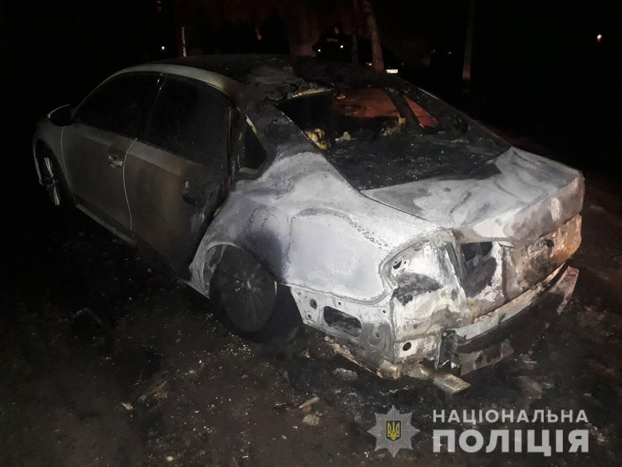 В Харькове сожгли авто активиста Вячеслава Ряднова