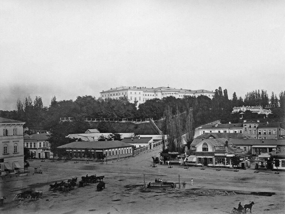 Майдан Незалежности (Крещатицкая площадь) в 1860-х годах