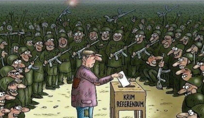 """Карикатура на """"законность"""" псевдореферендума"""