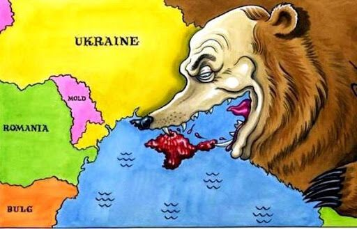 Аннексия Крыма: карикатура