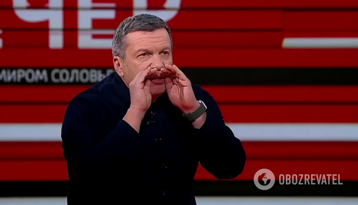 Соловьев устроил скандал в прямом эфире