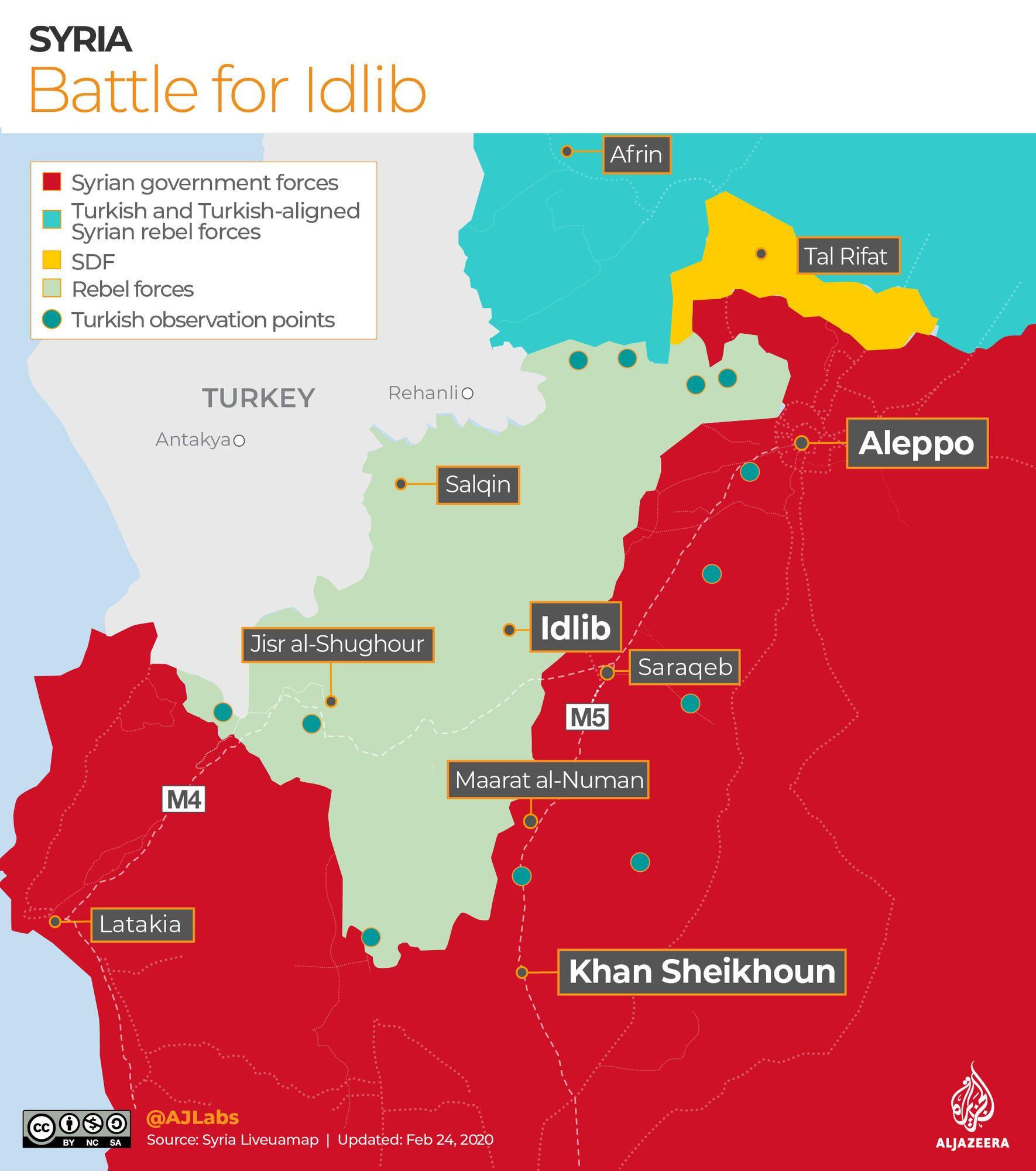 Сирия атаковала Турцию в Идлибе (карта)