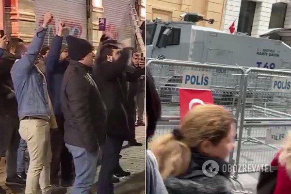 В ночь на 28 февраля у консульства России в Стамбуле (Турция) прошли протесты