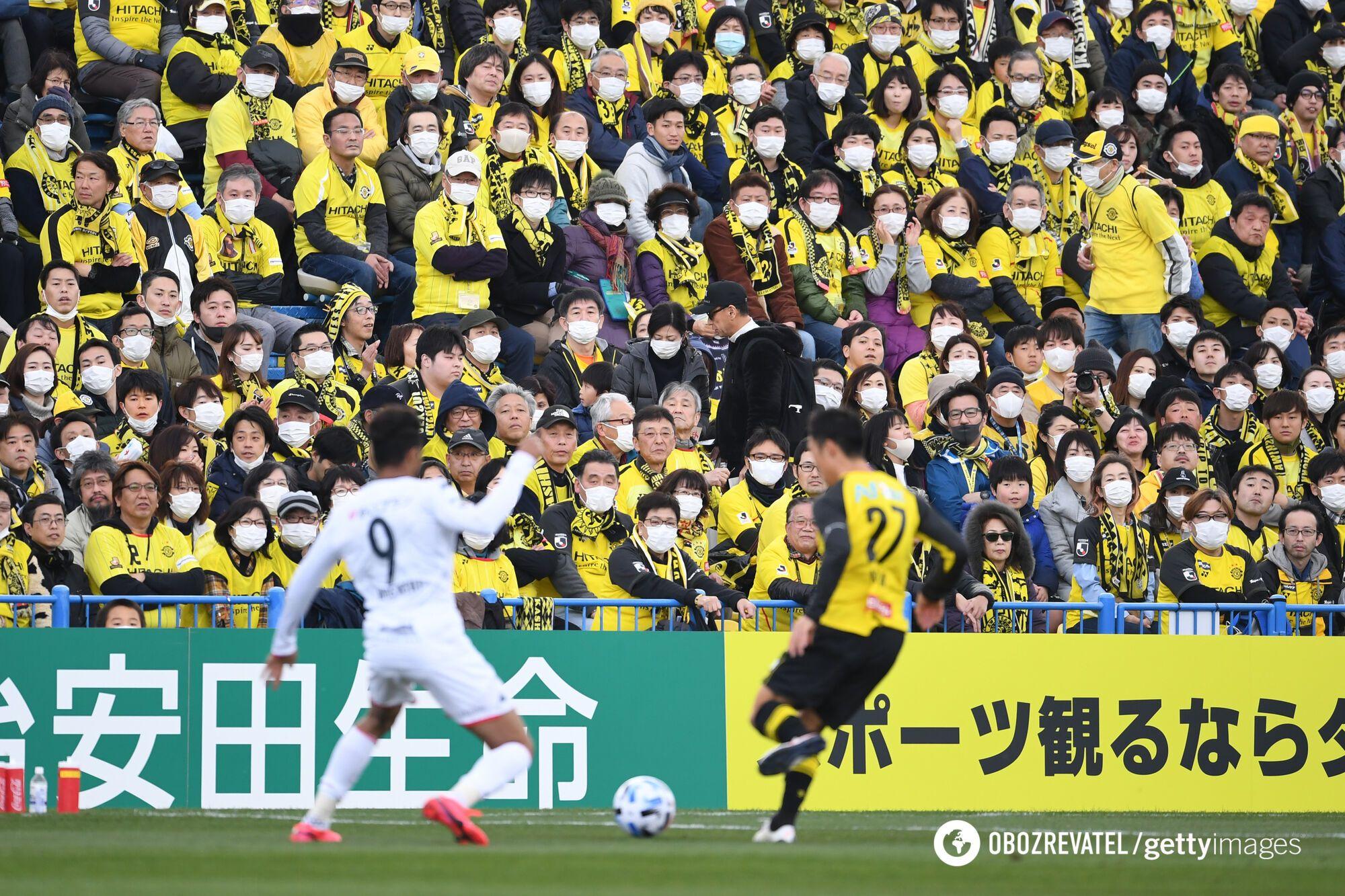 Хоч і в масках, але японські вболівальники встигли відвідати матчі 1 туру нового сезону J Ліги