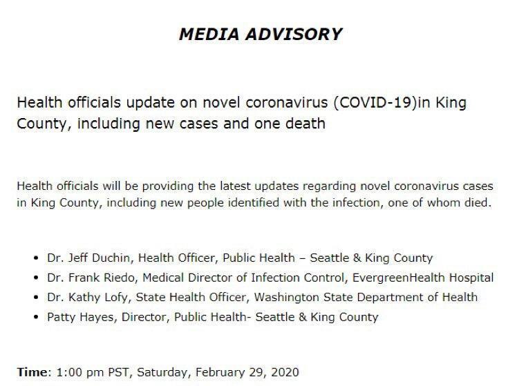 У США зафіксували першу смерть від коронавірусу