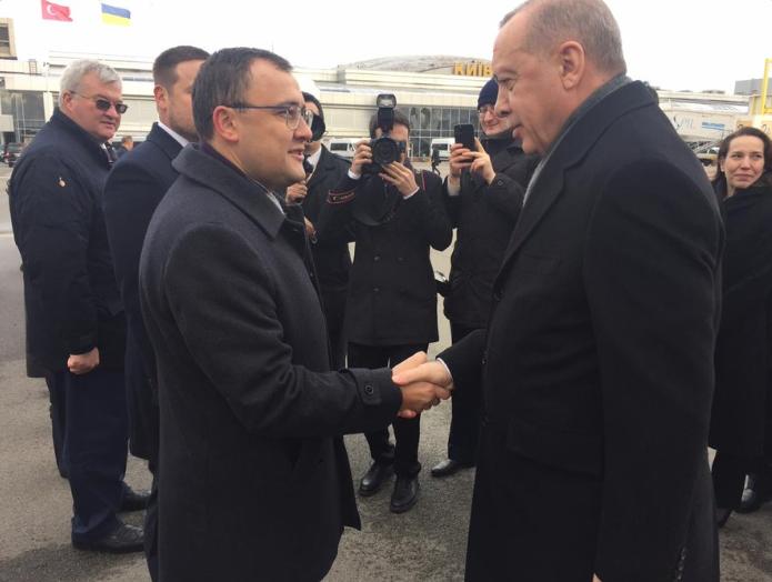 Ердоган прибув до Києва