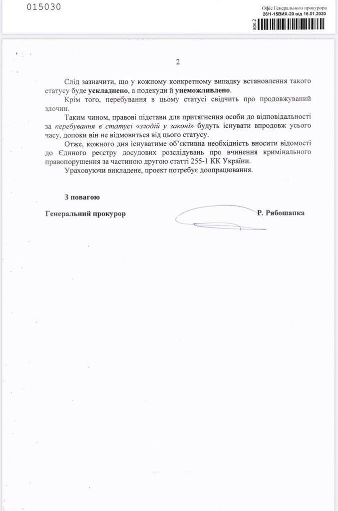 Письмо из прокуратуры