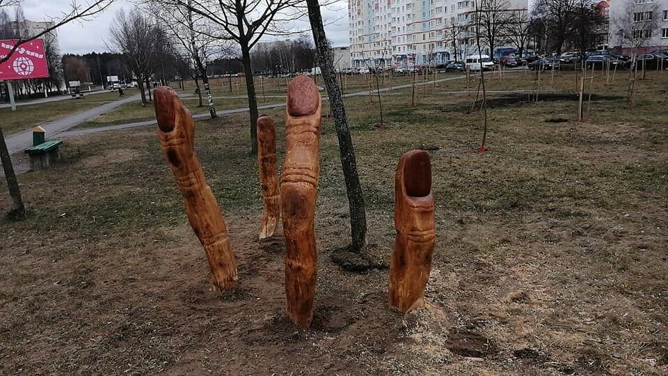 Білоруські працівники лісгоспу налякали людей зловісною інсталяцією