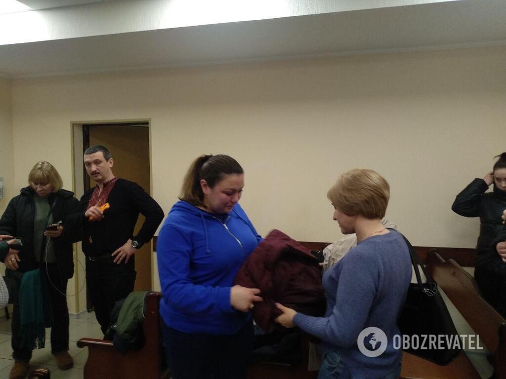 Мама мальчика Кристина Дьяченко на суде