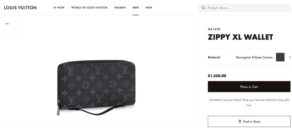 Опис гаманця Louis Vuitton
