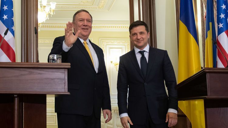 Майк Помпео и Владимир Зеленский