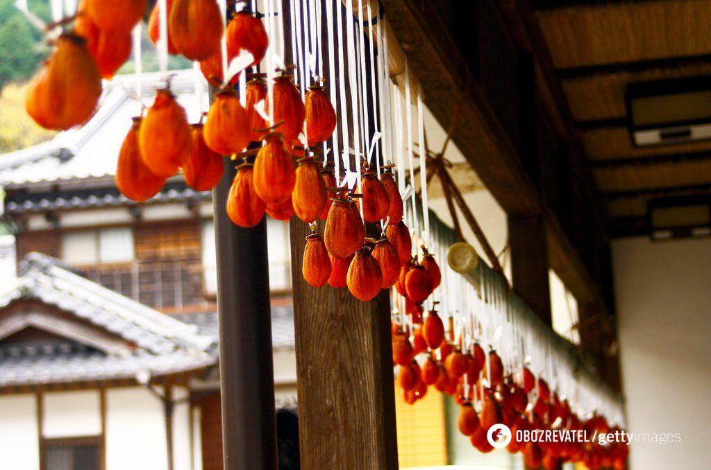 В'ялена хурма – традиційне блюдо в Японії