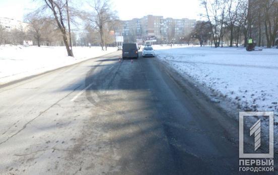 В Кривом Роге фургон сбил пенсионерку