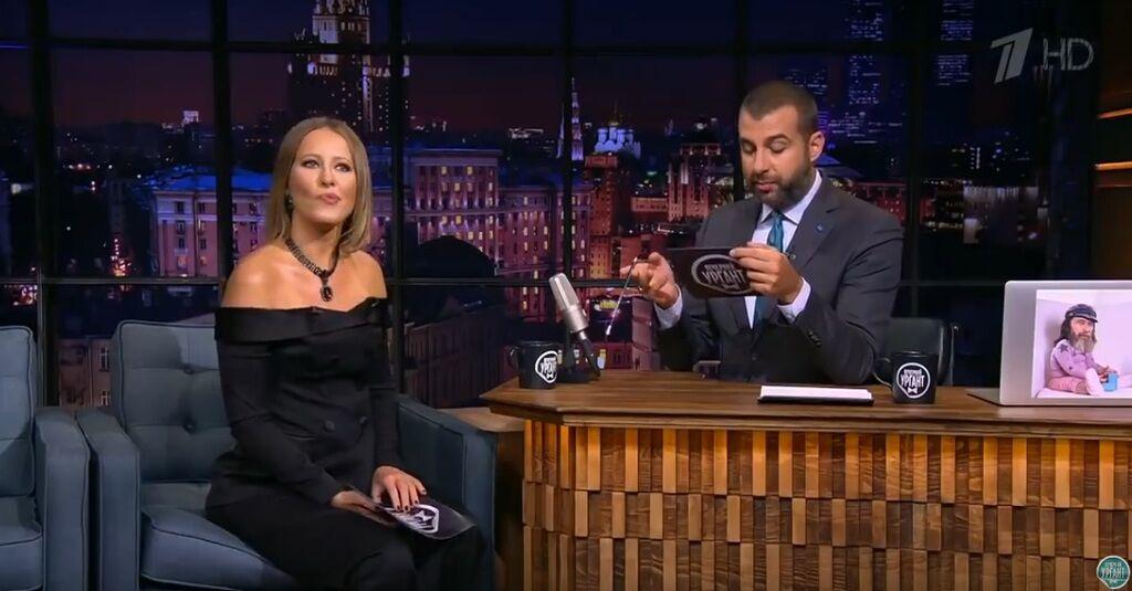 Собчак жестко потролила Канделаки на шоу Урганта