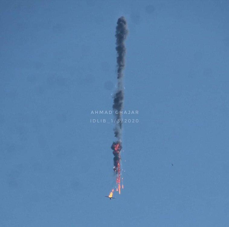 Над Сирией сбили военный самолет и дрон