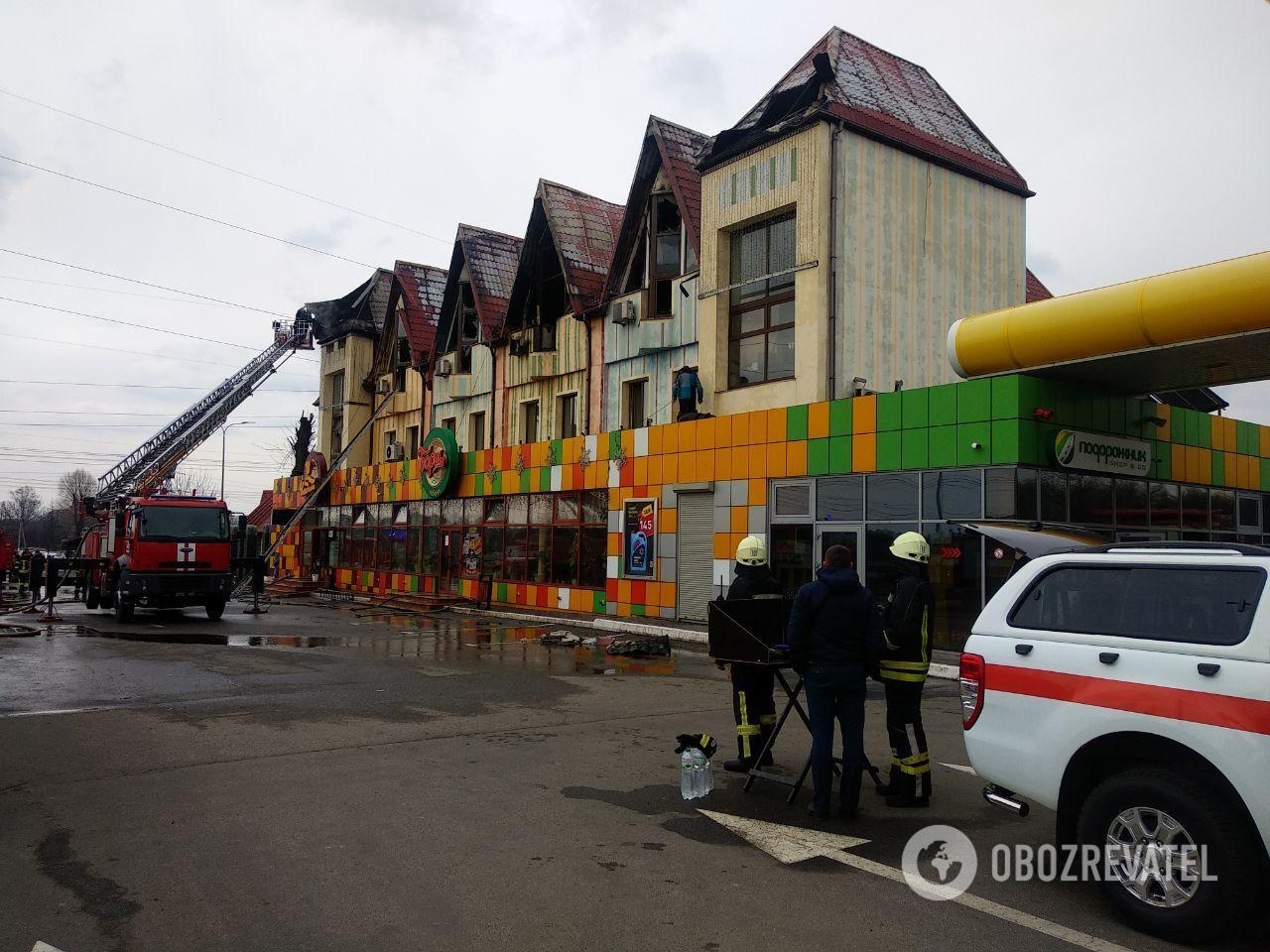 Пожежа в готелі під Києвом