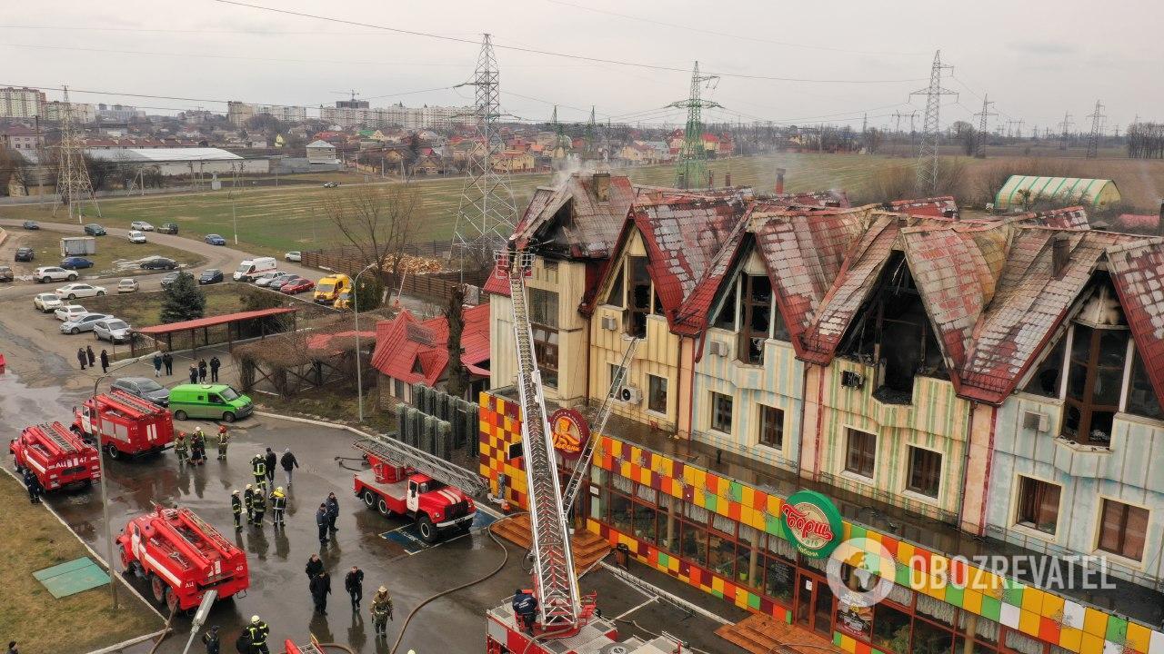 Пожар в отеле в Чабанах